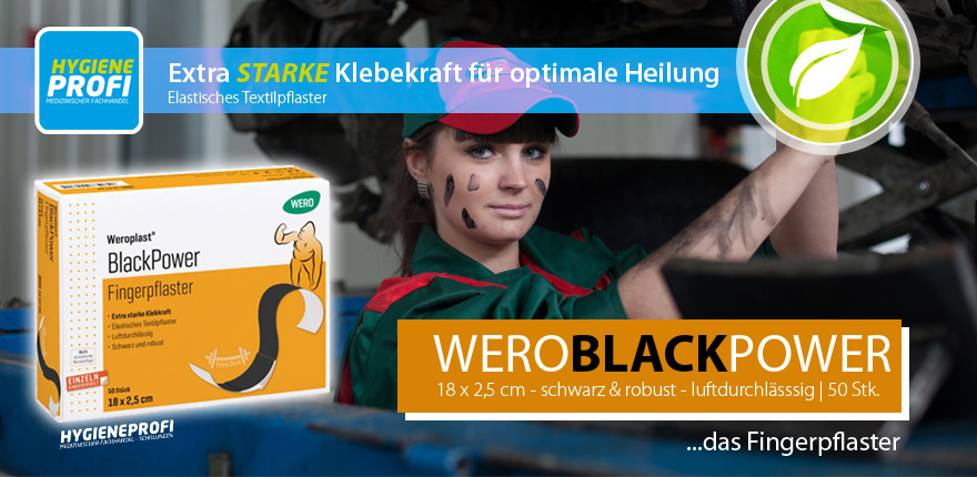 Weroplast Black Power Fingerverband